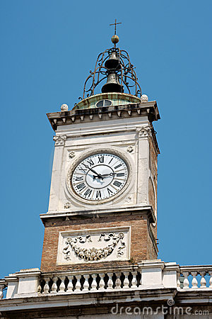 Clock tower in Piazza del Popolo, Ravenna