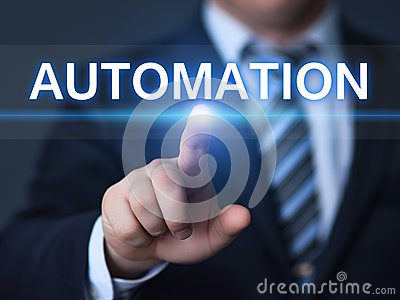 stock image of automation software technology process system business concept