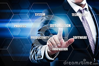 stock image of automation software technology process system business concept.