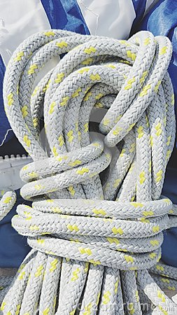 Coil of nylon rope