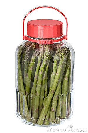 Asparagus in the jar