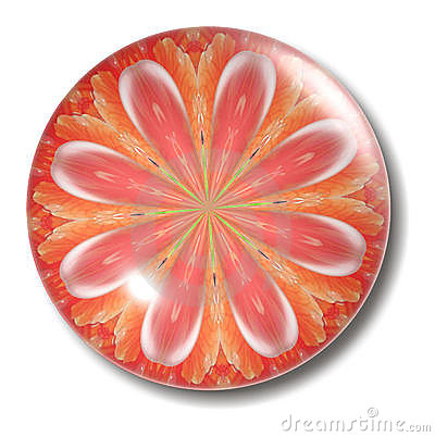 Orange Flower Button Orb