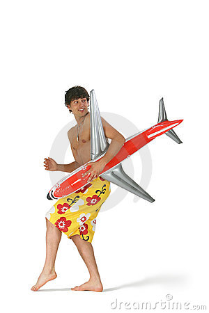 Man with airplane
