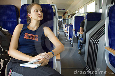 Girl on train #8