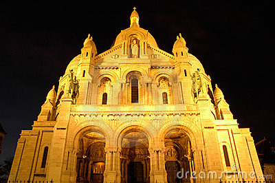 Sacre Coeur by night, Montmartre, Paris