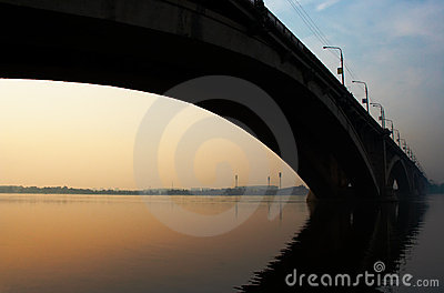 Bridge in sunrise
