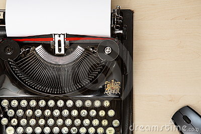 Typewriter and mouse