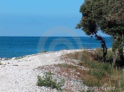 Beach in Istria