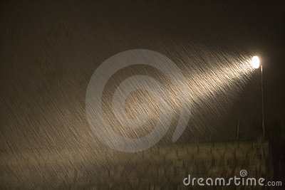Rain during the night