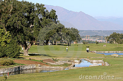 People playing golf in Spain