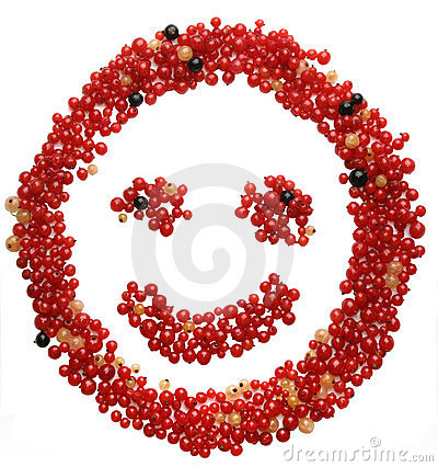 Face made out of different currants