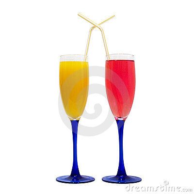 Wine glasses, different colors