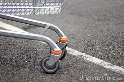 Front wheels of shopping cart