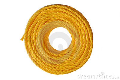 Yellow coiled rope