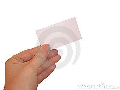 Empty white card