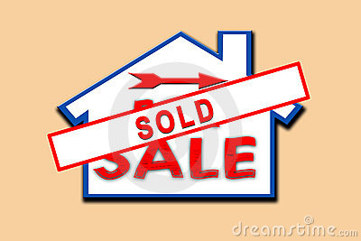 Property sold sign.
