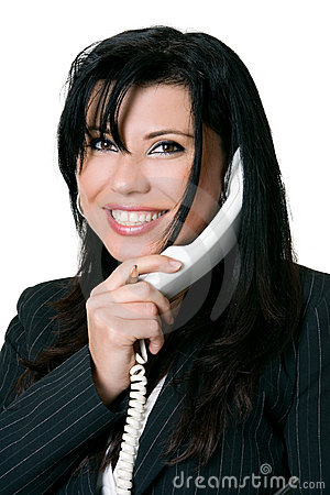 Friendly telephone manner