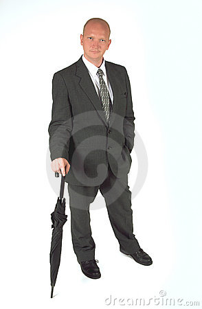 Stylish Businessman Standing