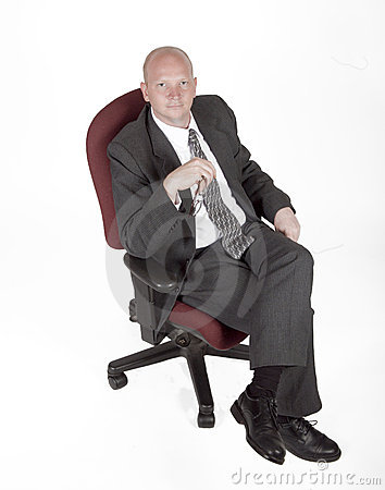 Businessman Sitting In A Chair
