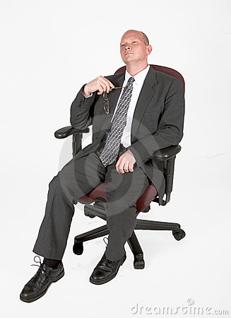 Man Leaning Back In His Chair