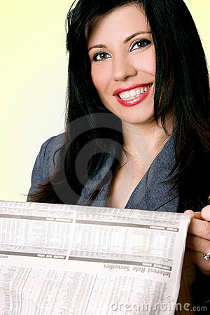 Businesswoman with paper