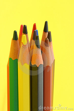 Bunch of colorful pencils