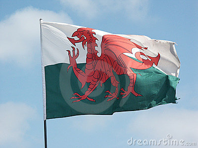Welsh Flag flying