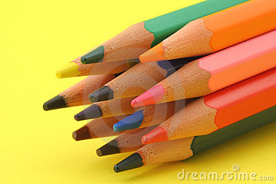 Bunch of colorful pencils #@