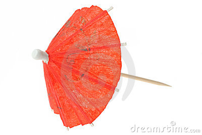Red asian cocktail umbrella