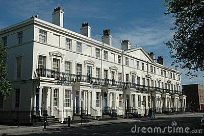 White terraced housing