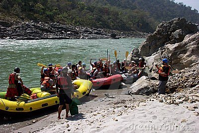 Rafting on the Ganga