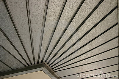 Abstract textured metal underside of roof from historic Plant City Florida