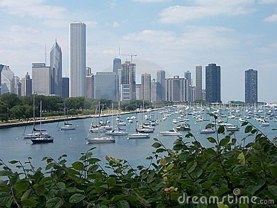 Chicago Downtown and Lake Michigan
