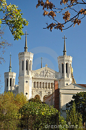 Basilica Fourviere from the park