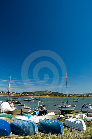 Boats and blue sky