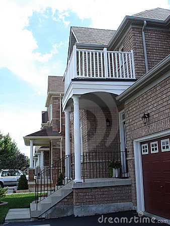 White pillar porch and deck