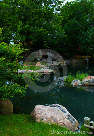 Pond in Chicago's - Japanese Gardens