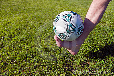 Foot and ball.