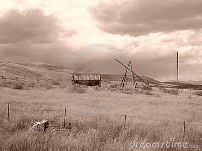 Sepia Barn Days gone by
