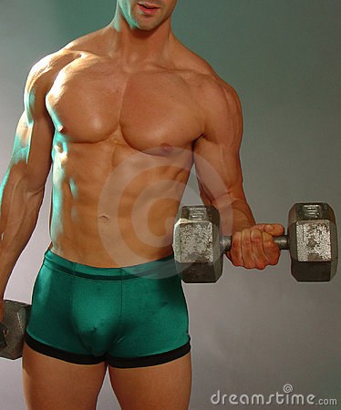Man with heavy weights