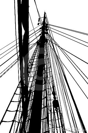 Silhouette of rig