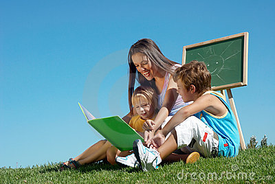 Literature lesson outdoor