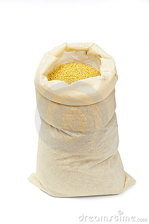 Bag with millet