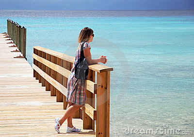 Standing On A Pier
