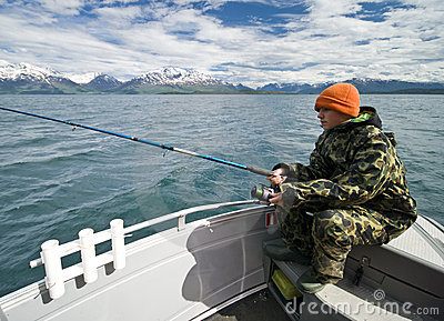 Young fisherman in Norway