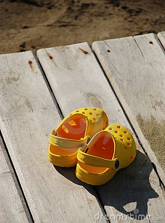 Sandals on the boardwalk