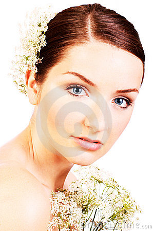 Close up of a beautiful bride