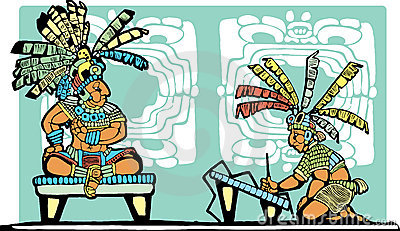 Mayan King and Scribe