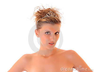 Young sexy woman isolated