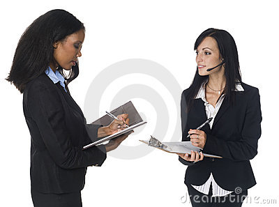 Businesspeople - taking notes
